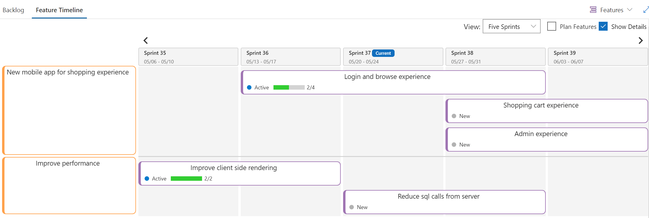 Feature timeline and Epic Roadmap - Visual Studio Marketplace